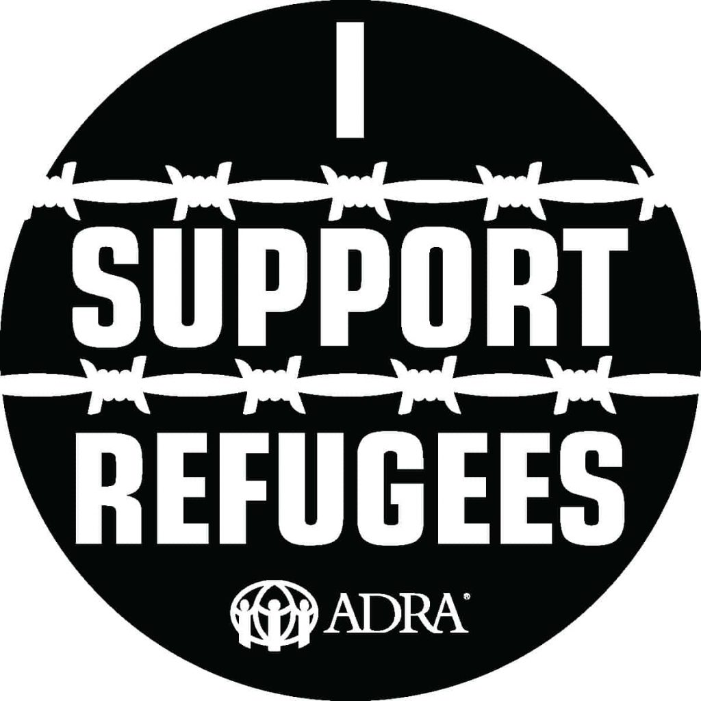 I Support Refugees-English BLK
